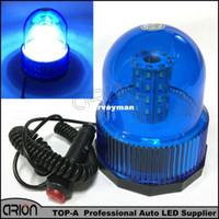 블루 DC12 / 24V 유니버설 3 플래시 모드 40 SMD 40 LED 자동차 자동 점멸 경고 라이트 경찰 비컨 스트로브 비상 조명 램프