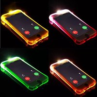 Nueva funda de teléfono fashional Led Flash para iPhone 6s 6 plus 7 8 plus X XR XS MAX Light Flash Llamada de aviso Funda para teléfono de la serie Tube