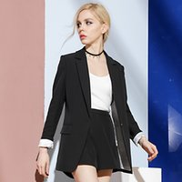Women Blazers and Jackets Black Blazer Feminino Office Blaze...