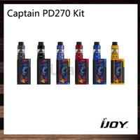 Kit iJoy Captain PD270 6000mah 234W PD270 TC Mod 4ml Serbatoio Captain S subohm Telaio scanalato innovativo 100% originale