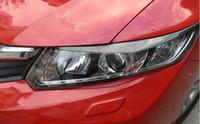 2x / Los Für Honda Civic 9. 2012-2014 Auto-Carbon-Faser-Scheinwerfer-Licht Brow Zierleisten Links und Rechts