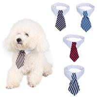 Милый Собака Кошка Животное Полосатый Боути С Белым Воротником Регулируемый Галстук Джентльмен Стиль Галстук