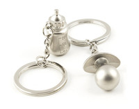 Wholesale-Baby 's 병 및 젖꼭지 열쇠 고리 결혼식 호의 및 선물 결혼식 기념품 결혼식 공급 아기 샤워 호의 뜨거운