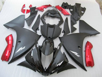 100% fit for Yamaha injection mold fairings YZF R1 09 10 11-14 black red fairings set YZF R1 2009-2014 OY31