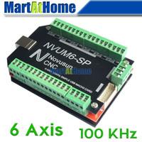 CNC Router Basit 100 KHz 3/4/5/6 Eksen Mach3 USB Hareket Kontrol Kartı Breakout Kurulu @ SD