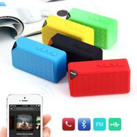 Förderung X3 cube platz Bluetooth drahtlose lautsprecher Radio FM TF USB soundbox mit Mic enceinte bluetooth tragbare puissant 2017