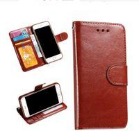 Para iPhone 7 6s 6 Plus 5 tirón de la caja del cuero Ranura para tarjeta de la carpeta del soporte de la PU nuevo lujo 5S SE cubierta dinero de bolsillo bolsa de marco de fotos
