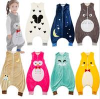 Nouveau Printemps Automne Bébé Sac De Couchage Enfants Pyjamas Dormir Vêtements Vêtements De Nuit Enfants Barboteuses Bébés Literie Wraps Sacs