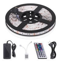 LED-Streifen-Leuchten SMD 5050 wasserdicht 16.4ft 5m 300LEDS RGB-Farbwechsel flexible LED-Seil-Leuchten mit 44 Tasten entfernt