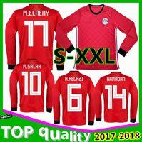 Long sleevesEgypt 2018 World Cup jerseys home M. SALAH KAHRABA Ramadan  ElNenny top thai quality soccer jerseys 18 19 Egypt football shirts 0b0b0a984