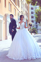 2017 Beautiful White Applique Wedding Dress Lace Up Bridal G...