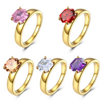 Stainless Steel Women Girls Rings Fashion Jewelry with Cubic...