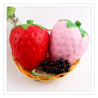 New Arrival Strawberry Squishy PU Toys Fruit Squishies Slow ...