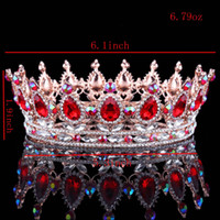 Hot European Designs royal king queen crown rhinestone tiara...