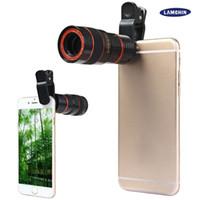 Lente do telescópio 8x de zoom Unniversal Optical Camera telefoto Len com clip para telefone celular iPhone Samsung HTC Sony LG Mobile inteligente