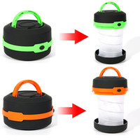 camping lantern collapsible led lantern flashlight with 2x dring key chain clip3 - Battery Operated Lanterns