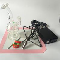 Enail Dnail Coil Heater kit Mit Glas Wasserpfeife Bong Elektrische Dabber Box Intelligente PID Tempreture Controller Box Tupfen Rig