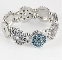 Kadın Moda Zencefil Yapış Botton Takı Vintage DIY Charm Gümüş Bilezik Kadınlar için Fit Noosa Chunk Yapış Alaşım Düğme Noel Hediyesi