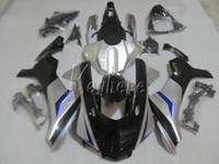 Nuevos carenados de moldeo por inyección en caliente para Yamaha YZF R1 09 10 11 12 13 14 kit de carenado negro plateado YZFR1 2009-2014 OR27