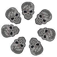 10 pz Punk Teschio patch distintivi per abbigliamento ferro ricamato patch applique ferro sulle zone accessori per il cucito per vestiti FAI DA TE DZ-354