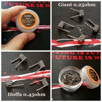 Dev Bobinleri Hoffa Tel 0.25ohm 045ohm Twisted Hive Staggered Merdiven Taiji Kaplan Alien Premade Wrap Teller RDA DHL için Önceden Direnç