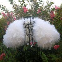 Страус перо белый свадьба меховые пальто Мантон FunRure FEMME Bolero Mainfian Shar Bolero Bridal пиджак зимнее пальто женщины