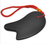 인기있는 성격 U 마사지 보드 기능 물리 치료 진정 천연 석재 바늘 칼 스크래핑 플레이트 바디