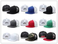 2017 moda hip hop vendita al dettaglio all'ingrosso 11 colori bambini trucker cap adulto protezioni in maglia blank trucker cappelli snapback cappelli acept custom made logo