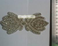 10pcs / lot Nuovo toppa in rilievo del motivo di appliques di motivo, capelli nuziali DIY Accessori di cerimonia nuziale della fascia Trim dei gioielli