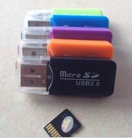 Yeni SimpleStone Binmer Yüksek Hızlı Mini Usb 2.0 Mikro SD TF Hafıza Kartı Okuyucu Adaptörü