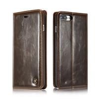 CaseMe R64 Rétro carte de portefeuille en cuir fente pour l'iPhone 11 Pro XS MAX XR X 7 6 Galaxy S20 S10 S10e Note 10 Case Holder Magnetic Flip Cover