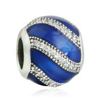 Emalia Charms Blue Authentic S925 Sterling Silver Beads pasuje do oryginalnych bransoletek biżuterii 791991EN118