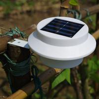 따뜻한 화이트와 태양 3LED 램프 지붕 울타리 복도 야외 램프 IP65 라이트 컨트롤 벽 램프