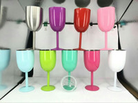 10oz Stainless Steel Wine Glass 9 Colors Double Wall Insulat...