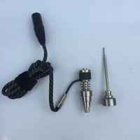 Commercio all'ingrosso 6 in 1 titanio nail kit riscaldatori per senzatetto Domeless con carb tappi per dnail e-nail box mods dab rig per tubo dell'acqua