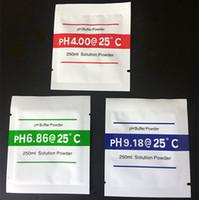 3 قطعة / الوحدة ph العازلة مسحوق قياس حل المعايرة 4.00 / 6.86 / 9.18 نقطة المعايرة ل ph اختبار متر