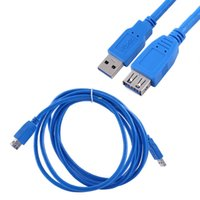Freeshipping Cable USB 3.0 Super Speed Cable de extensión USB macho a hembra 1m 1.8m 3m USB Data Sync Transfer Extender Cable