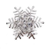 حار بيع diy دبابيس عيد الميلاد ندفة الثلج الماس دبابيس الكورية الأزياء سبيكة دبابيس المجوهرات