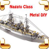 Nuevo Regalo Venido Clase Nagato Acorazado Modelo 3D Metal DIY Montar Juguetes Adultos Colección Puzzle Decoración de Oficina Modelos de Aleación de Barcos