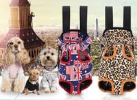 Bolsa de mascotas Suministros para perros Portador de gatos Cinco agujeros Mochila Frente Pecho Mochila Pink Light Blue Black Pet Products