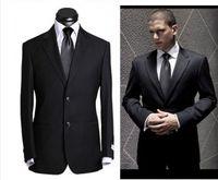 Abiti di lana di alta qualità si adattati la lana laterale laterale leggera Grey Grey Grey Smoking Notch Notch Risvolto uomo Business Suits Prom Suits (Giacca + Pantaloni)