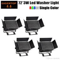 무대 조명 TIPTOP 4XLOT 72x3W 단색 DMX RGBW 높은 전원 LED 벽 세탁기 라이트 레드 그린 블루 화이트 독립 / DMX