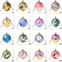Beauty And The Beast Cinderella Mermaid Snow White Necklaces...