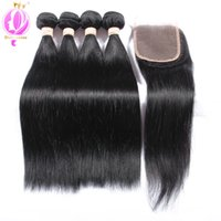 Top quality Brazilian Straight Hair 4 Bundles With a Free Pa...