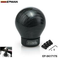 EPMAN- Real Carbon Fiber Алюминиевый механизм Сноб коробка передач Алюминиевая ручка переключения передач для Honda VW BMW EP-SK1717S