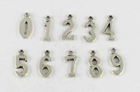 80 Pcs Tibetan silver/gold/bronze assorted number charms pendants