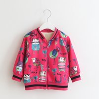 Cartoon Printings Bomer Jackets for Girls 2017 Fashionable W...