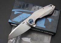 Cuchillo de gama alta Zero Tolerance ZT0456 cuchillo plegable 59-60HRC 204P hoja, TC4 mango de titanio EDC cuchillo Colección cuchillo