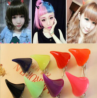 Hot sale Harajuku headdress demon horns hairpin hairpin hair...