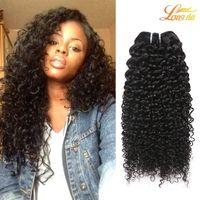 Оптовая 7A бразильский перуанский малайзийский Индийский человеческих волос расслоения бразильский кудрявый вьющиеся волосы машина двойной уток естественный цвет